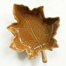 Pottery Barn Autumn Leaf Orange Ceramic Salad Plate