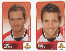 122 M. WOODS/BRIAN STOCK DONCASTER ROVERS STICKER FL CHAMPIONSHIP 2010 PANINI