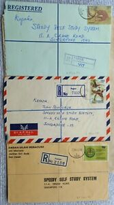 MALAYA SABAH 1978 - 1982 THREE DIFFERENT PAPAR REGISTERED COVERS