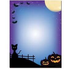 100pk All Hallows Eve Halloween Letterhead w/ Halloween Envelopes