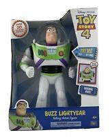 "Disney-Pixar Toy Story 4 Buzz Lightyear Talking Action Figure 12"" Tall!"