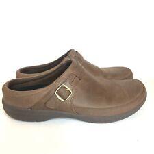 Merrell Womens Encore Kassie Buckle Slip On Shoes Brown Leather 10