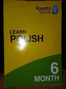 ROSETTA STONE LEARN POLISH 6 MONTH Access