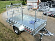 8x4 SINGLE AXLE BRAKED,CAGED,BOX TRAILER,WITH LOADING RAMP