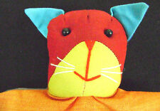 HANDCRAFTED PUPPET CAT KITTEN GLOVE HAND Fabric Story Kids Children Cute Plush