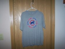 CHICAGO CUBS   WIN   SHIRT MLB GRAY LARGE