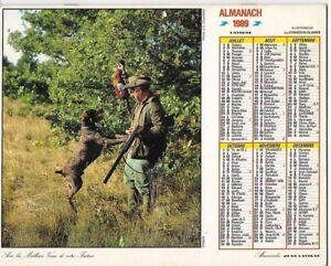Almanach 1989 Calendrier de la poste PTT - HAUTE-SAONE 70  & Ter. de BELFORT 90