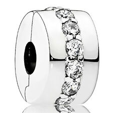 PANDORA Charm Clip Element 791972 CZ Silber Bead