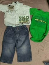 Baby Boy 6-9 Months  3 Piece AKDMKS Outfit In Excellent Condition