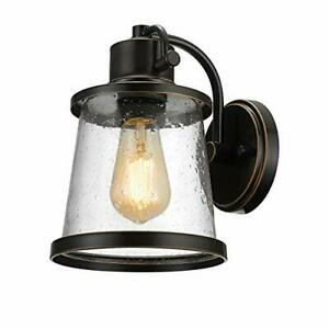 Globe Electric 44127 Charlie 1-Light Outdoor Indoor Wall Sconce LED Bulb Incl...