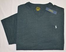 New 5XB 5XL BIG Polo Ralph Lauren Mens short sleeve V-neck T-shirt Tee black 5X
