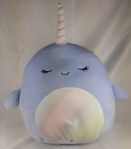"""NWT Squishmallows Plush  Naomi Narwhal 11"""" Easter Spring Summer"""