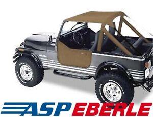 Traditional Bikinitop Tan Softtop Verdeck Jeep CJ 76-86 Wrangler YJ 87-91