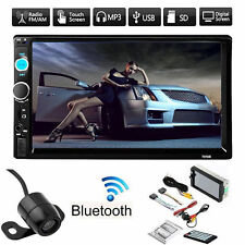 "7"" Double 2DIN Car MP5 MP3 Player Bluetooth Touch Screen Radio Rear View Camera"