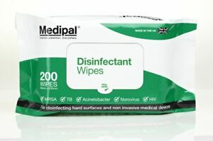 Medipal Disinfectant Wipes, Pack of 200