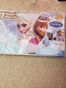 Disney Frozen 7 Wood Puzzles