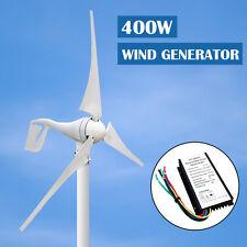 New White DC 400W Wind Turbine Generator Hybrid 12/24V Charge Controller Home