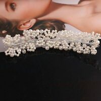 Bride Wedding Headdress Flower Crown Tiaras Pearl Crystal Rhinestone Hairbands