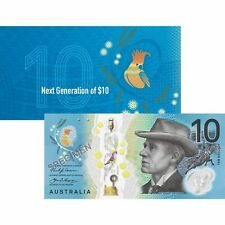 NEW Australian 10 Dollar Banknote Uncirculated Condition In Commemorative Folder