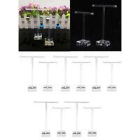 10x Ohrring Regal Display Rack Acryl Vitrine Schmuck T-Form Standhalter