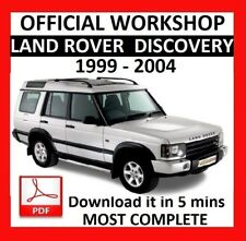 Discovery 1999 car service repair manuals ebay official workshop manual service repair land rover discovery 1999 2004 sciox Image collections