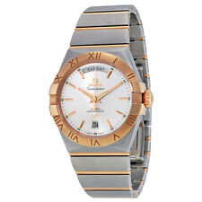 Omega Constellation Chronometer Silver Dial Red-Gold and Steel Mens Watch