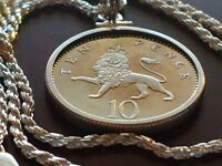"""1999 ROYAL ENGLISH LION Proof pendant on an 18"""" Sterling Silver Rope Chain 25mm"""