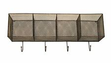 Wall Mounted Wire Kitchen Storage Baskets Copper Metal Coat Clothes Hooks Hanger