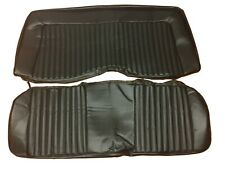 1973 1974 Cuda Challenger Bucket Seat Covers Front Upholstery Skins Black