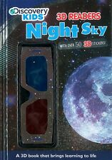 NIGHT SKY ~ Facts + Over 50 3D Stickers + 3D Glasses. Educational Hardback book
