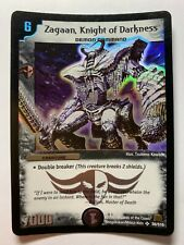 Duel Masters DM01 Base Set S6/S10 Super Rare Zagaan, Knight of Darkness WOTC