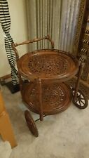 Rosewood Sheesham Wooden Cart Drink/Tea Utility Trolley
