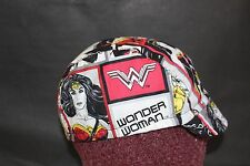 CYCLING CAP WONDER WOMAN COMIC COTTON HANDMADE IN USA NO CHINA ANY SIZE