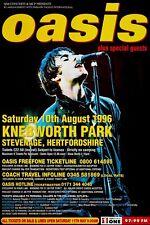 OASIS - Knebworth Park 1996 Music Concert Poster Art