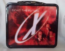 1998 Used The X-Files Fight the Future Movie Metal School Lunch Box Collectible