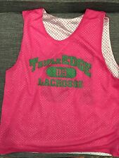 Triple Edge Lacrosse Youth M  Pinnie Penny Pennie by Yale Pink Green White