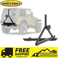 smittybilt src classic rear bumper w/ hitch d-rings & tire carrier 76-06  jeep (fits: jeep cj7)