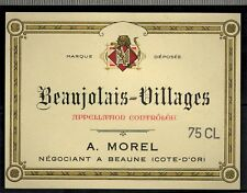 Etiquette Vin De Bourgogne - Beaujolais Villages  -A.Morel - Réf.n°80