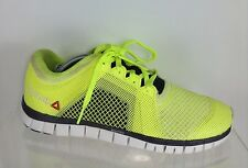 Reebok Mens Neon Yellow Athletic Shoes 9.5