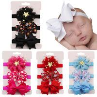 3Pcs Newborn Kids Elastic Floral Headband Hair Girls baby Bowknot Hairband Set