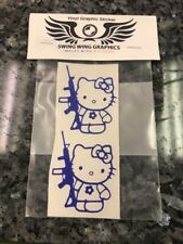 Sm Hello Kitty rifle Vinyl Decal Sticker car windshield Kalashnikitty PICK COLOR