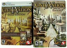 Civilization IV Gold Edition & Special Edition PC Game Lot