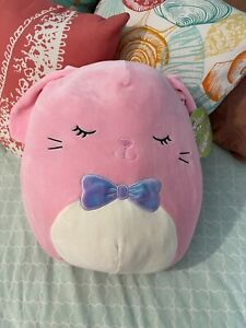 """Squishmallow Kellytoy 2021 Springtime 12"""" Bop the Pink Easter Bunny Plush Doll"""