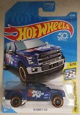 2018 Hot Wheels '15 Ford F-150 4x4 ~ Blue K&N ~ BOX SHIP FREE