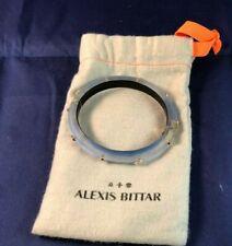 Alexis Bittar Light Blue Lucite Rivet Studded Bangle Bracelet NEW IN POUCH