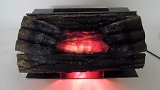 1989 Sears Roebuck Electric Fireplace Logs Air Heater & Motion Lamp Flames WORKS