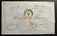 1861 Trieste Austria Lombardy Venetian Stampless Letter Cover To Sira
