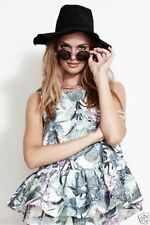 Peplum Casual Floral Sleeveless Tops for Women