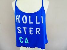 ⭐️ Hollister ⭐️ Blue Sun Top Strap T-Shirt with Motif Size : S 10 Small