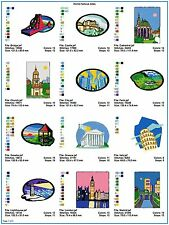 INTERNATIONAL SITES: FAMOUS WORLD SITES 30 Embroidery Design CD